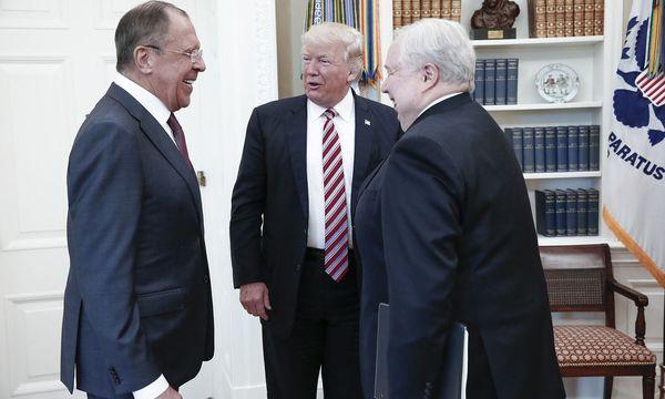 Trump im Gespräch mit Lawrow / Bild: APA/AFP/RUSSIAN FOREIGN MINISTRY