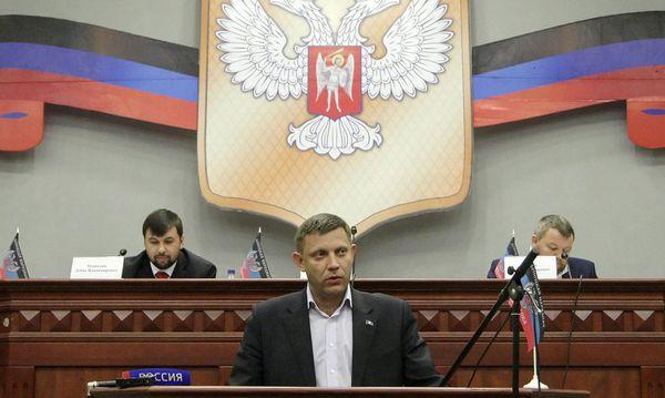 Die Führung der Volksrepublik Donezk / Bild: APA/EPA/ALEXANDER ERMOCHENKO