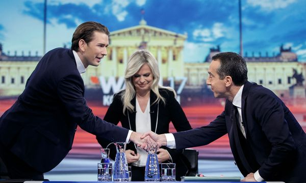 NR-WAHL: ORF-TV-DUELL DER SPITZENKANDIDATEN SPÖ-ÖVP / Bild: APA/GEORG HOCHMUTH