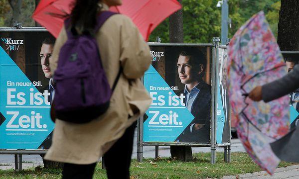 """Unter dem Titel """"Aufbruch und Wohlstand"""" hat die ÖVP den zweiten Teil ihres Wahlprogramms präsentiert. / Bild: REUTERS"""