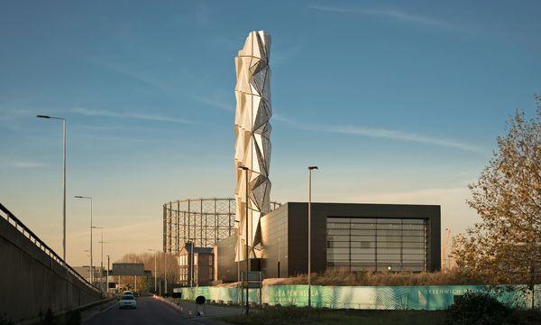 """(c) Beigestellt Skulptur. """"Sakrales Kraftwerk"""" von  C.F. Møller Architects."""