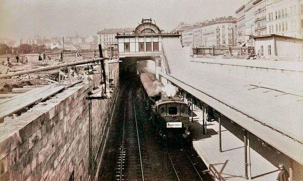 (c) Beigestellt Großprojekt.       Ab 1898 dampfen die Züge durch Wien.