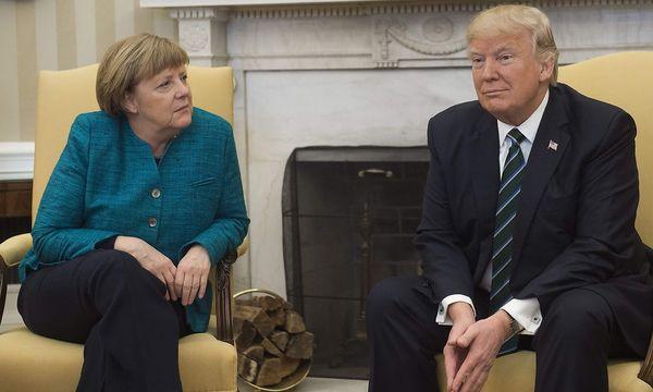 Merkel und Trump in Washington. / Bild: APA/AFP/SAUL LOEB