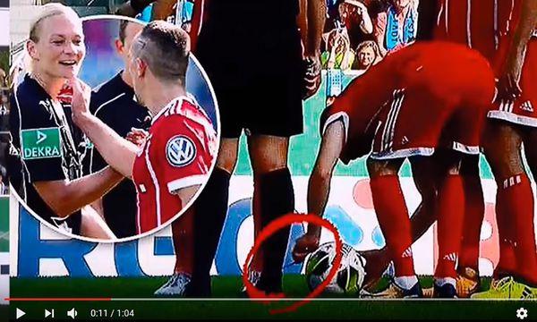Der Streich von Ribery / Bild: Screenshot von YouTube