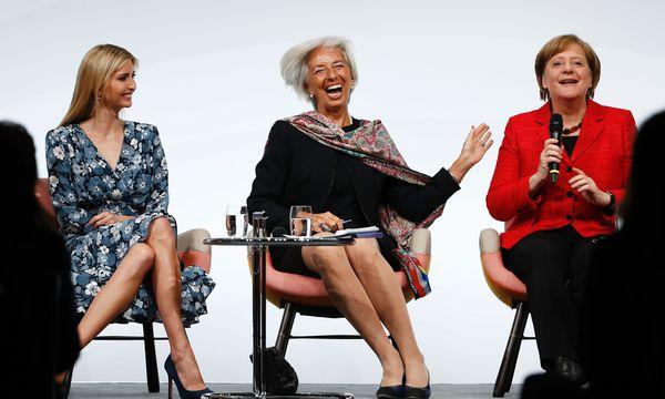 W20-Gipfel in Berlin: Ivanka Trump und Angela Merkel, nur getrennt von IWF-Chefin Christine Lagarde.  / Bild: (c) APA/AFP/ODD ANDERSEN (ODD ANDERSEN)