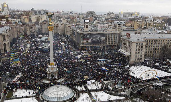 Archivbild vom 8. Dezember 2013 am Maidan in Kiew. / Bild: (c) REUTERS (� Vasily Fedosenko / Reuters)