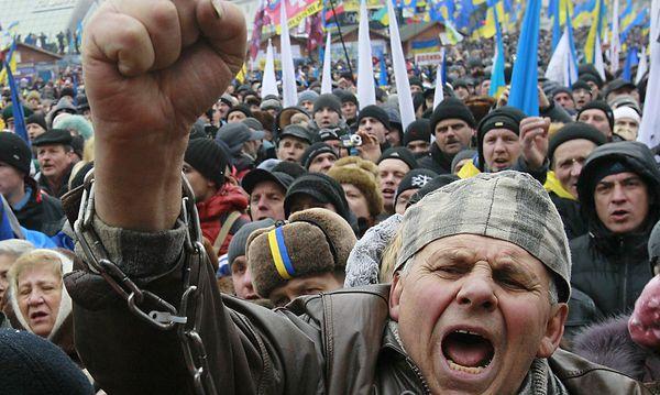 Proteste am Maidain vor einem Jahr. / Bild: (c) REUTERS (� Gleb Garanich / Reuters)