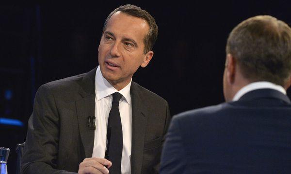 Bundeskanzler Christian Kern im Gespräch mit Neos-Chef Matthias Strolz. / Bild: APA/HERBERT PFARRHOFER