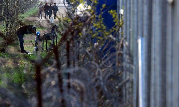 Flüchtlinge im Niemandsland zwischen Serbien und Ungarn - fotografiert im April 2017. / Bild: APA/AFP/ATTILA KISBENEDEK