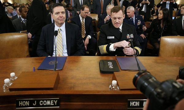 FBI-Direktor Comey und NSA-Chef Rogers wurden vom Kongress-Ausschuss befragt. / Bild: (c) REUTERS (JOSHUA_ROBERTS)