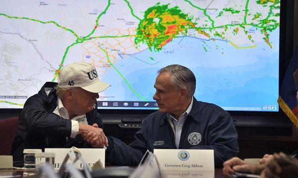 Der US-Präsident im Katastrophengebiet. / Bild: (c) AFP (Jim Watson)