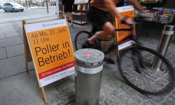 Wie in Salzburg (Bild), sind nun auch in Wien Poller geplant / Bild: (c) APA/BARBARA GINDL