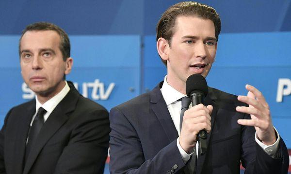 Bundeskanzler Christian Kern (SPÖ) und ÖVP-Chef und Außenminister Sebastian Kurz  / Bild: APA/HANS KLAUS TECHT