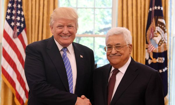 Donald Trump und Mahmoud Abbas.  / Bild: (c) imago/UPI Photo (THAER GHANIAM)