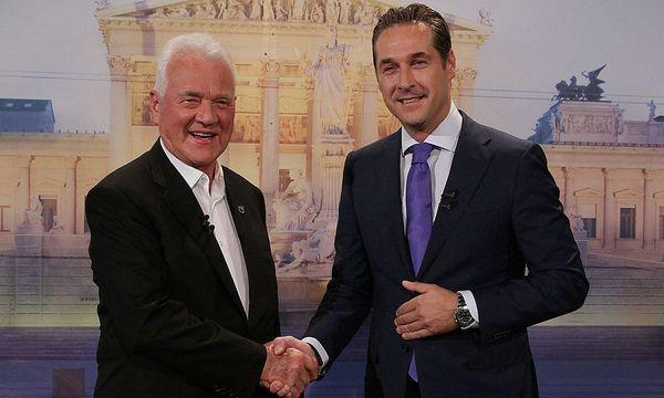 Auch schon wieder fast vier Jahre her: Das TV-Duell zwischen Frank Stronach und Heinz-Christian Strache. / Bild: (c) ORF