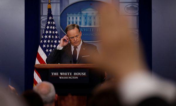 Trump-Sprecher Sean Spicer beim täglichen Presse-Briefing. / Bild: REUTERS