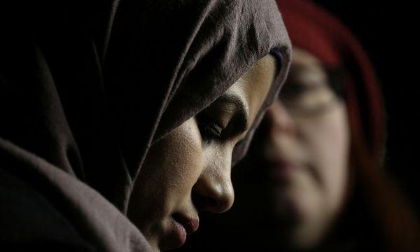 Eine junge Muslima während eines Protest in Seattle, Washingtondet. / Bild: Reuters
