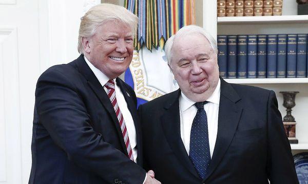Trump traf am Mittwoch auch den russischen Botschafter in Washington, Sergej Kisljak. / Bild: (c) imago/ITAR-TASS (Alexander Shcherbak)