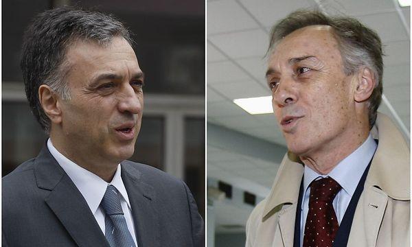 Der amtierende Präsident Vujanovic und sein Herausforderer der Opposition, Lekic, bei der Wahl in Podgorica. / Bild: (c) REUTERS