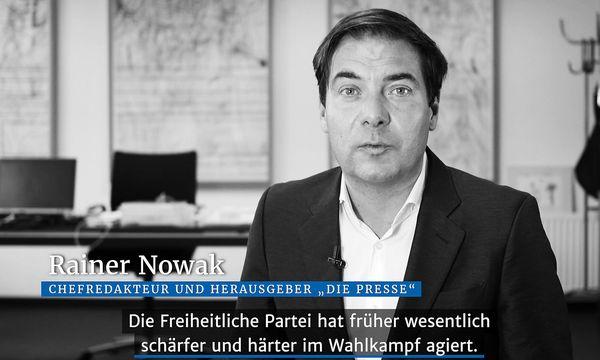 Rainer Nowak im Video-Kurzkommentar zum Thema die FPÖ /