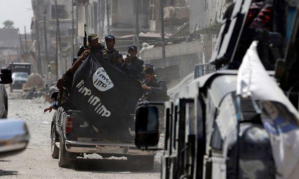 Irakische Sicherheitskräfte nach der Eroberung Mosuls. / Bild: REUTERS