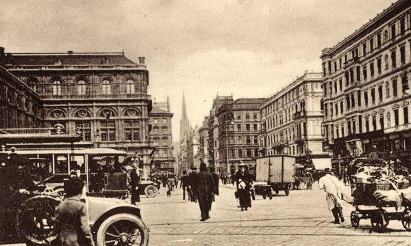 1935, automobile Revolution auf der Kärtnerstraße / Bild: Imago