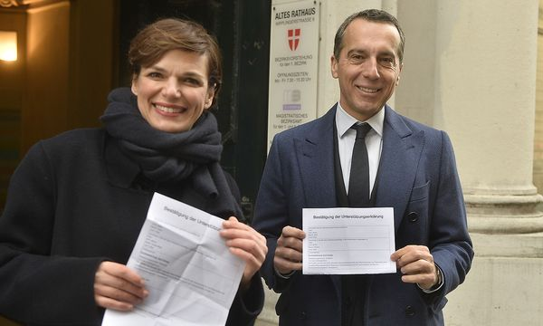 Sie können Volksbegehren unterstützen, aber nicht das Timing festlegen. Da geht es den SPÖ-Abgeordneten Pamela Rendi-Wagner und Christian Kern wie den normalen Bürgern. / Bild: APA/HERBERT PFARRHOFER