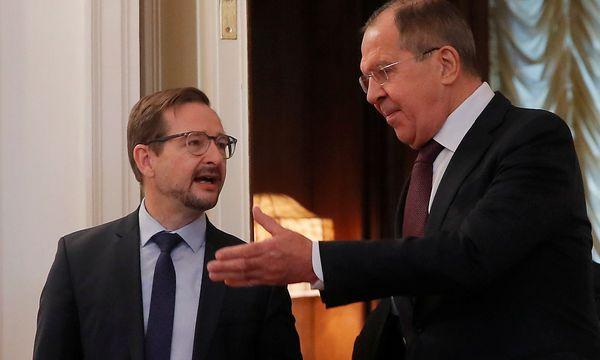 Sergej Lawror (re.) und der neue OSZE-Generalsekretär Thomas Greminger in Moskau. / Bild: REUTERS