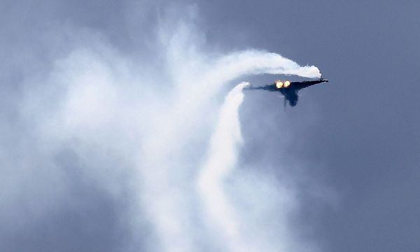 Archivbild: Ein Eurofighter des Österreichischen Bundesheeres bei der Flugshow Airpower 2013 / Bild: REUTERS