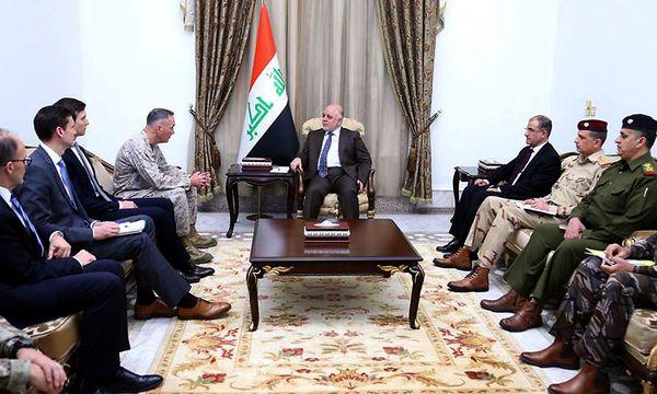 Kushner mit al-Abadi. / Bild: APA/AFP/IRAQI PRIME MINISTER'S P