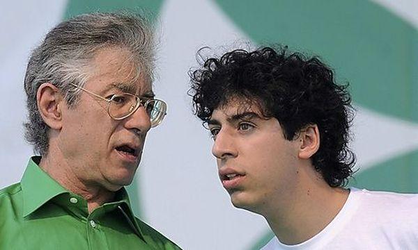 Bossi mit seinem Sohn Renzo / Bild: (c) REUTERS