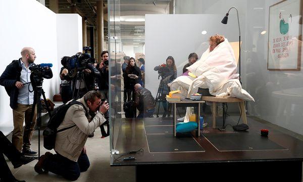 Abraham Poincheval in seinem ''Nest'' / Bild: (c) REUTERS (GONZALO FUENTES)