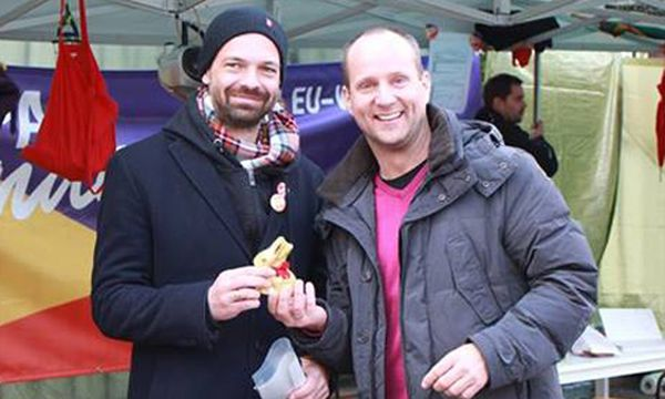 Strolz besucht Ehrenhauser am Ballhausplatz / Bild: (c) Screenshot: Facebook-Seite von Matthias Strolz