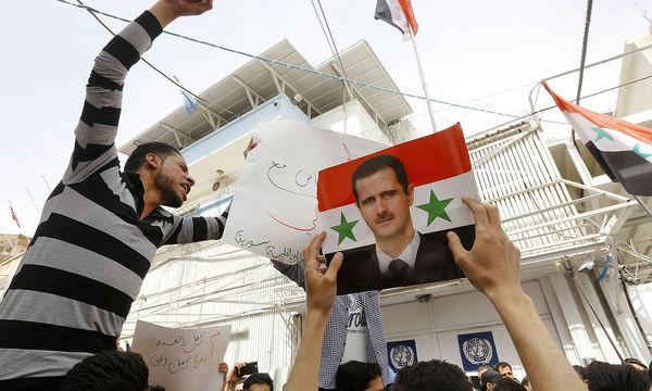 Pro-Assad-Demonstrationen. / Bild: APA/AFP/LOUAI BESHARA