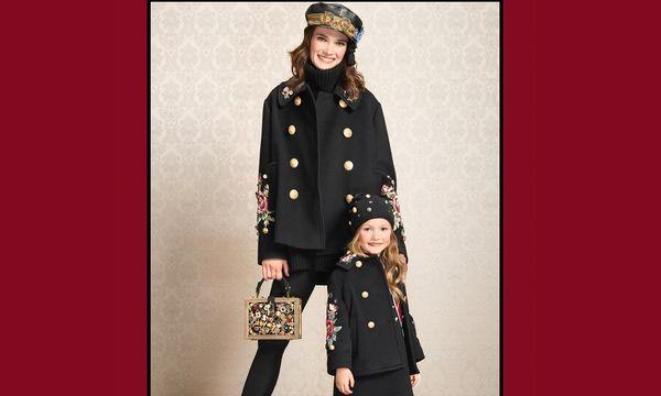 (c) Beigestellt Doppelte Lottchen. Dolce & Gabbana ist in Sachen Mini-Me-Mode sehr beliebt.