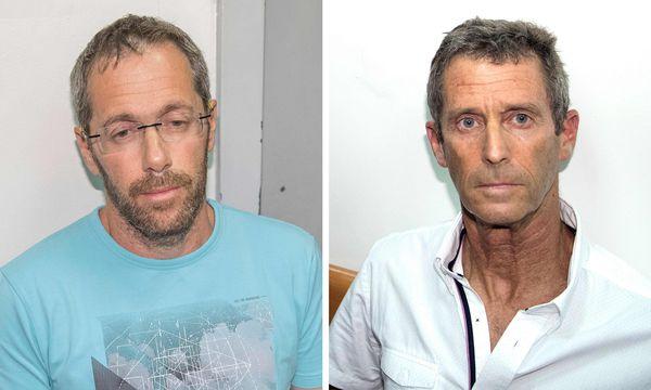 Am Montag in Israel festgenommen: Geschäftsmann und Politikerberater Tal Silberstein (links) und Milliardär Beny Steinmetz. / Bild: (c) APA/AFP/JACK GUEZ; Montage: Die Presse