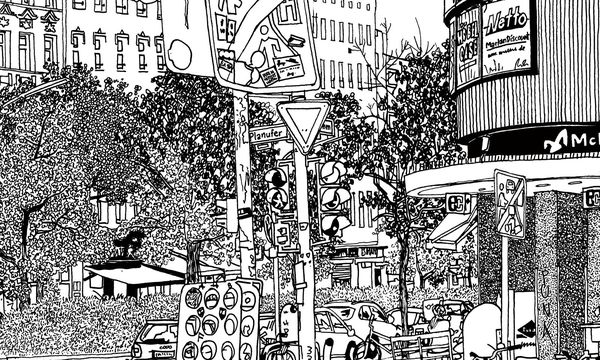 (c) Beigestellt Filzstift. Der Schweizer Ingo Giezendanner legt zeichnerisch urbane Codes frei.