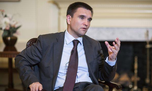 Ukraine´s Foreign Minister Klimkin speaks during an interview in Washington / Bild: (c) REUTERS (JOSHUA ROBERTS)