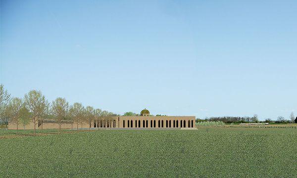 Eine Visualisierung des geplanten, ersten orthodoxen Klosters Österreichs.  / Bild: Architekt Ioannou