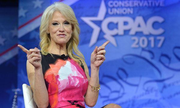 """Trumps Beraterin Kellyanne Conway sprach auf ABC """"allgemein"""" über Überwachungsmethoden. / Bild: (c) APA/AFP/MIKE THEILER (MIKE THEILER)"""