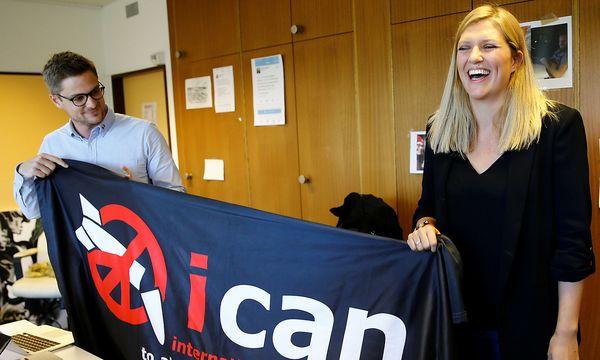 ICAN-Direktorin Beatrice Fihn. / Bild: REUTERS/Denis Balibouse