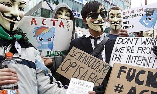 Großdemo gegen Acta in Wien / Bild: (c) REUTERS (Lisi Niesner)