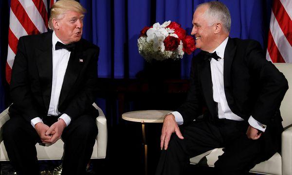 Trump und Turnbull wollen Einheit vermitteln. / Bild: REUTERS