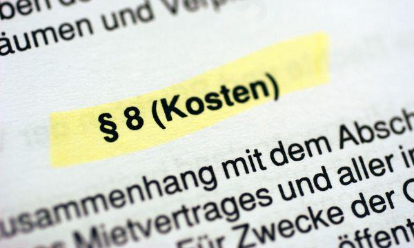Symbolbild: Mietvertrag / Bild: (c) Clemens Fabry (Presse)