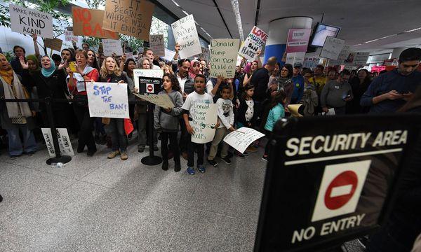 Symbolbild: Weltweite Proteste gegen Einreiseverbot / Bild: imago/UPI Photo