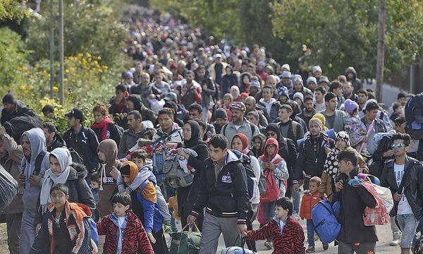 Flüchtlinge an der Grenze zu Österreich / Bild: imago/ZUMA Press