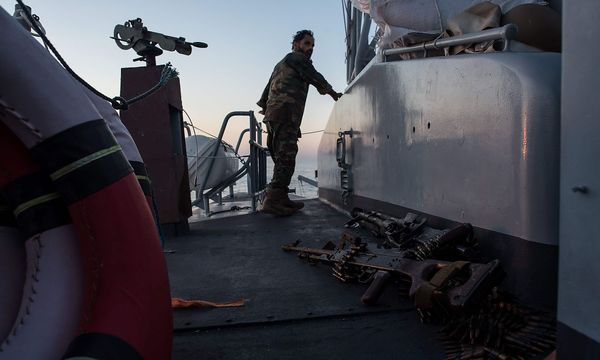 Die libysche Küstenwache soll bald Unterstützung von italienischen Kollegen bekommen. / Bild: APA/AFP/TAHA JAWASHI