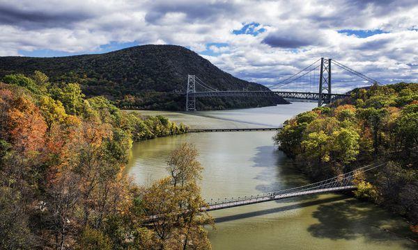 Imago Ein Blick von oben auf den Hudson River