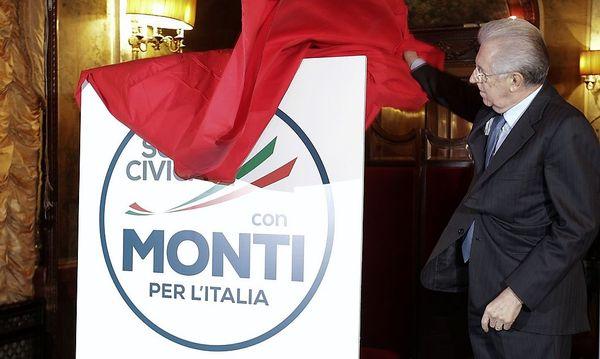 Monti stellte seine Wahlliste aus Zentrumsparteien vor / Bild: (c) REUTERS