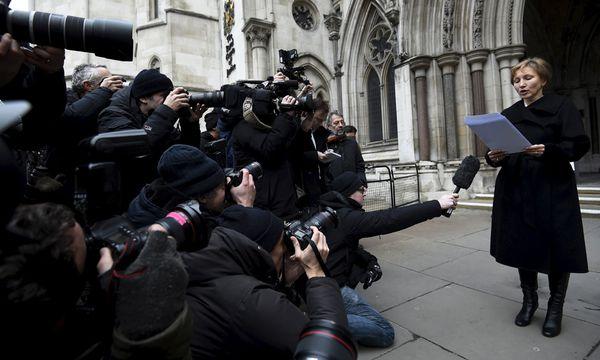 Alexander Litwinenkos Witwe, Marina, trat in London vor die Medien. Sie zeigte sich durch den Untersuchungsbericht bestätigt. / Bild: (c) REUTERS (TOBY MELVILLE)